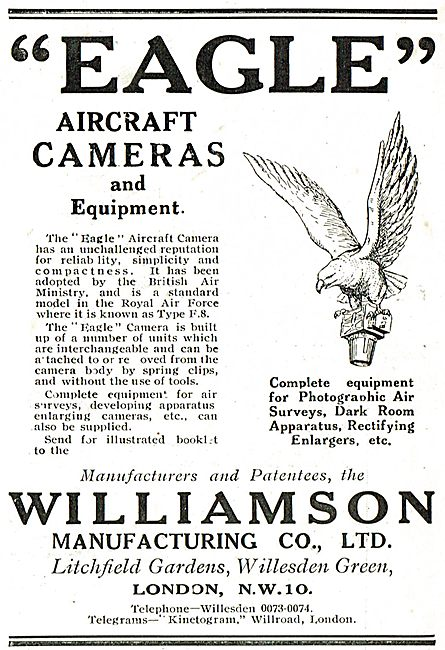 Williamson Eagle Aircraft Cameras & Equipment