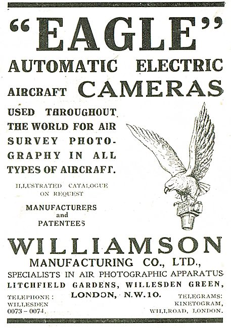 Williamson Eagle Electric Aircraft Cameras For Air Survey Work