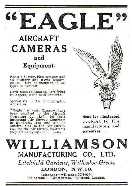 Williamson Eagle Aircraft Cameras For Military Use