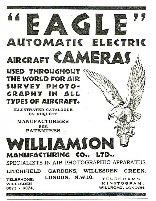 Williamson Eagle Automatic Electric Aircraft Cameras