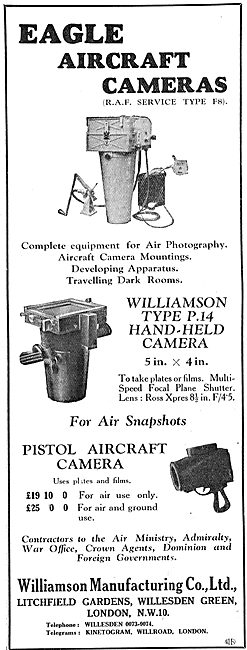 Williamson RAF Type F8 Eagle Air Cameras