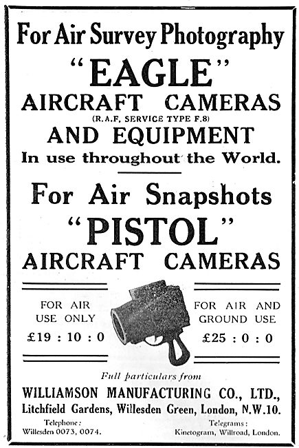 Williamson Eagle Pistol Aircraft Cameras
