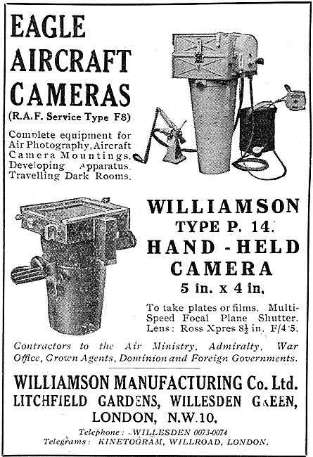 Williamson Eagle  RAF Type F8 Aircraft Camera
