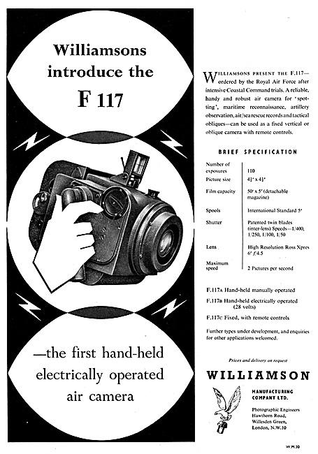 Williamson F117 Aircraft Cameras, Gun Cameras & Accessories
