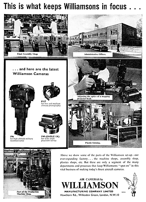 Williamson Aircraft Cameras, F96 F-49 F117