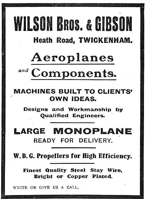 Willson Brothers Large Monoplane Twickenham
