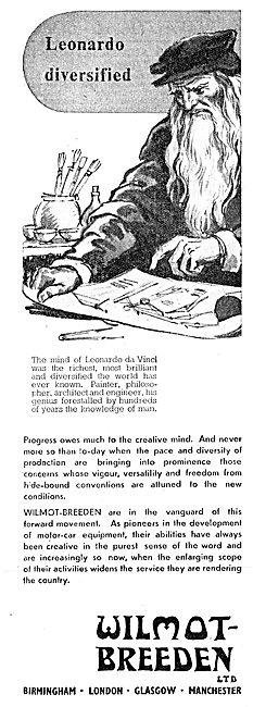 Wilmot-Breeden Aircraft & Motor Vehicle Parts 1943 Advert