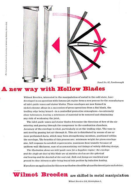 Wilmot Breeden Inlet Guide Vanes & Stator Blades For Aircraft