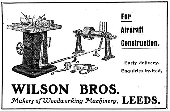 Wilson Brothers. Leeds. Woodworking Machinery