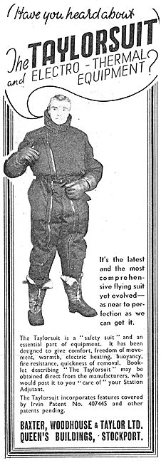 Baxter Woodhouse & Taylor - Taylorsuit Heated Flying Clothing
