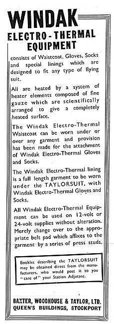 Baxter Woodhouse & Taylor -  Windak ElectroThermal Equipment 1942