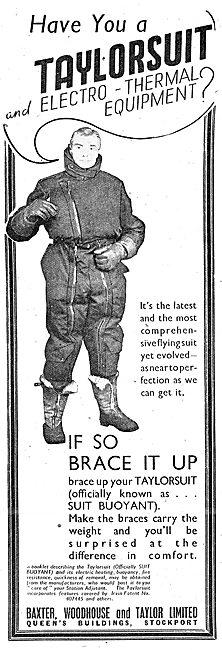 Windak.  Taylorsuit Electrically Heated Flying Clothing 1943
