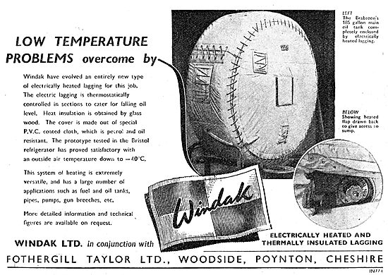 Windak Fothergill Taylor Electrically Heated Blankets 1949