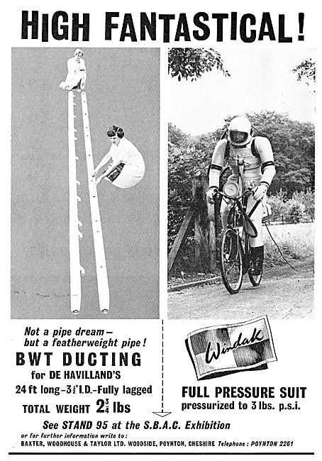 Baxter Woodhouse & Taylor - Windak Full Pressure Flying Suit