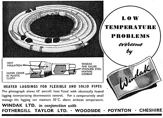 Windak Fothergill Taylor Heeted Laggings For Aircraft Pipework