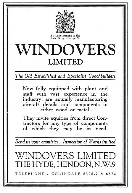 Windovers - Sheet Metal Work. Wooden Components