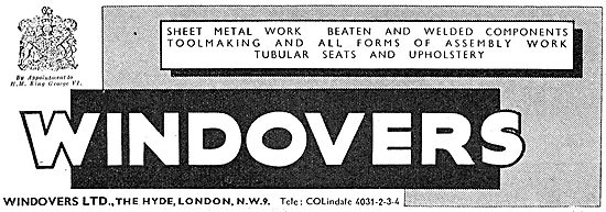 Windovers - Sheet Metal Work, Toolmaking & Assembly Work 1943