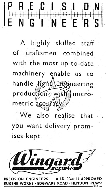 Wingard. Precision Engineers. Eugene Works, Hendon