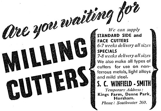 S.C. Winfield-Smith Milling Cutters 1942