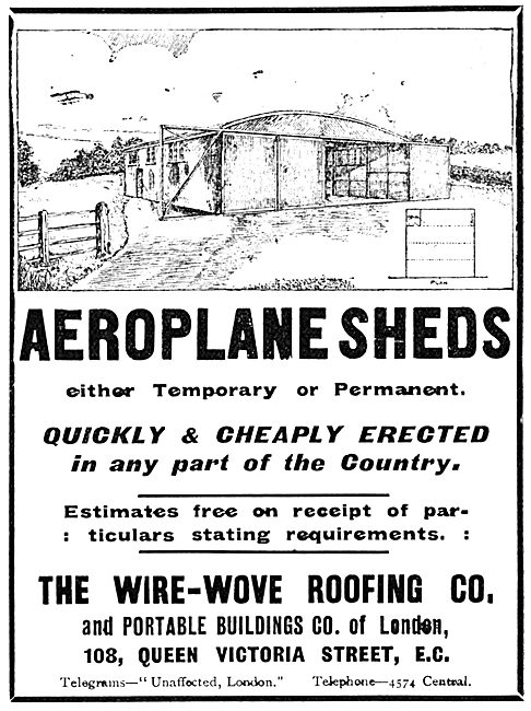 The Wire-Wove Roofing Co - Aircraft Hangars