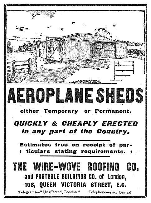 Wire-Wove Aeroplane Sheds
