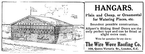 Wire-Wove Aeroplane Hangars