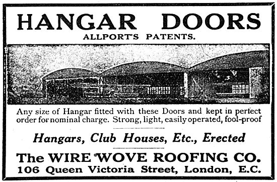 Wire-Wove Roofing - Allports Patents Hangar Doors