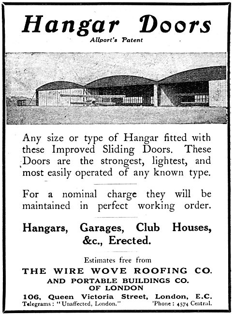 Wire-Wove Roofing - Allport's Patents Hangar Doors