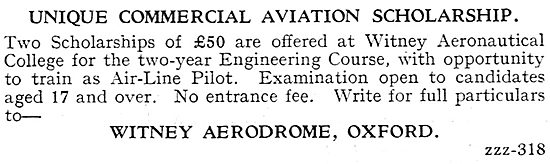Witney Aerodrome - Commercial Aviation Scholarship