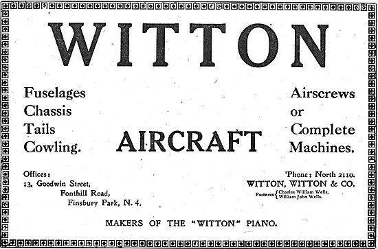 Witton Aircraft Manufacturers Of Aircraft Components