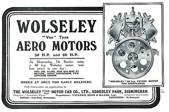 Wolseley 30 & 60 HP Vee Type Aero Motors