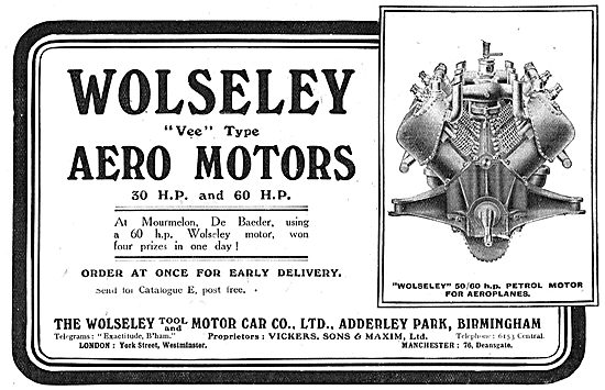 Wolseley Aero Motors - Factory Adderley Park Birmingham