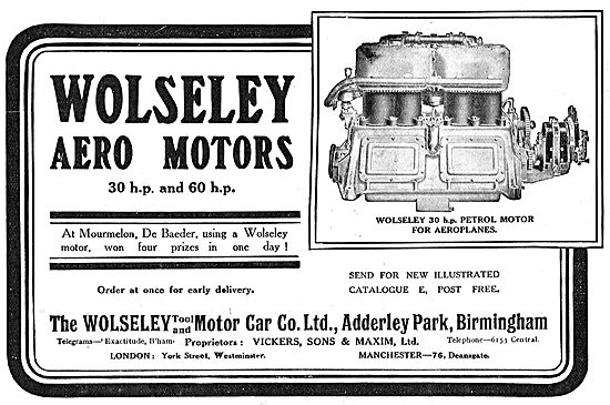 Wolseley 30HP & 60HP Aero Motors