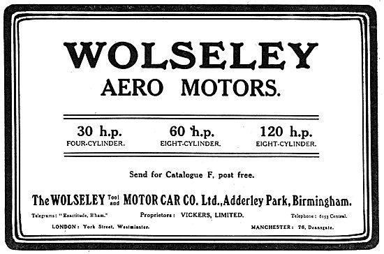 Wolseley Aeroplane Engines