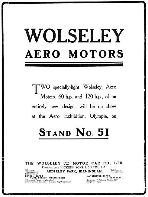 Wolseley Aero-Engines 1911
