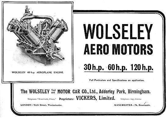 Wolseley 60 h.p. Aeroplane Engines