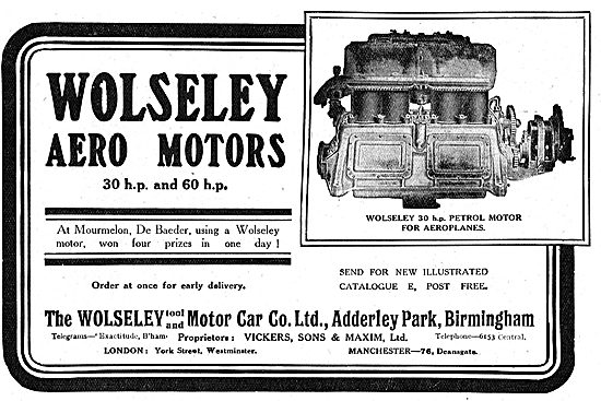 Wolseley 30 & 60 HP Aero Motors