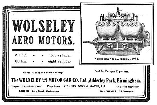 The Wolseley 60 HP Petrol Motor For Aeroplanes