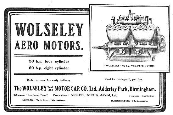 The Wolseley 60 HP Vee-Type Aero Motor