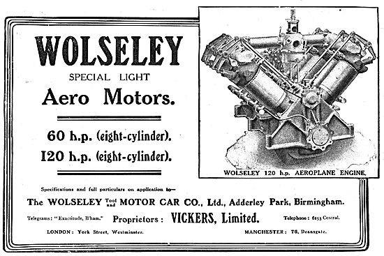 Wolseley (Vickers Ltd) 120 HP Aeroplane Engine