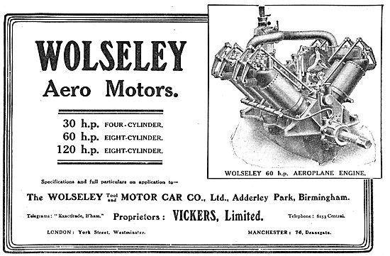Wolseley (Vickers Ltd) 60 HP Aeroplane Engine