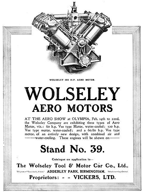Vickers Wolseley Aero-Engines 1913