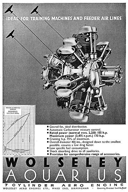Wolseley Aquarius 7 Cylinder Aero Engine