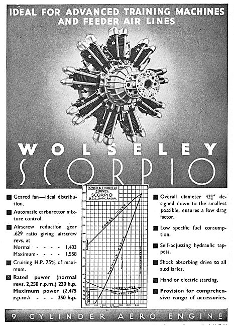 Wolseley Scorpio 9 Cylinder Aero Engine