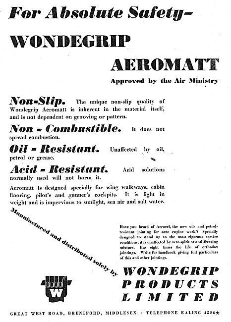 Wondegrip Aeromat Aircraft Non-Slip Floor Coverings.