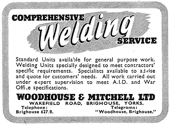 Woodhouse & Mitchell. Wakefield Road. Brighouse. Welding