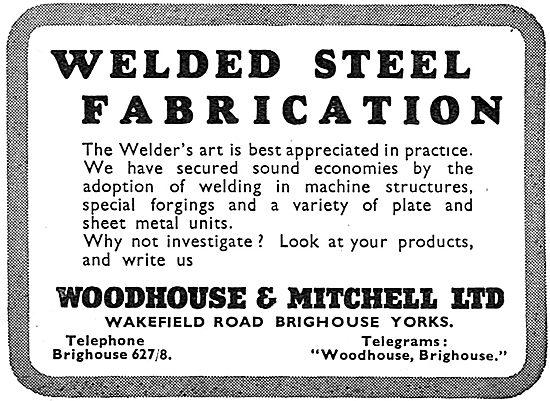 Woodhouse & Mitchell. Welded Steel Fabrication 1939