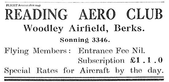 Reading Aero Club. Flying Training & Aircraft Hire