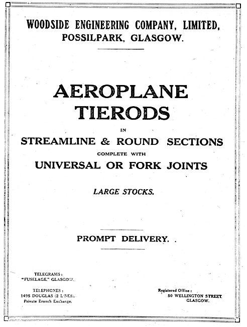 Woodside Engineering. Possilpark, Glasgow. Aero Tierods