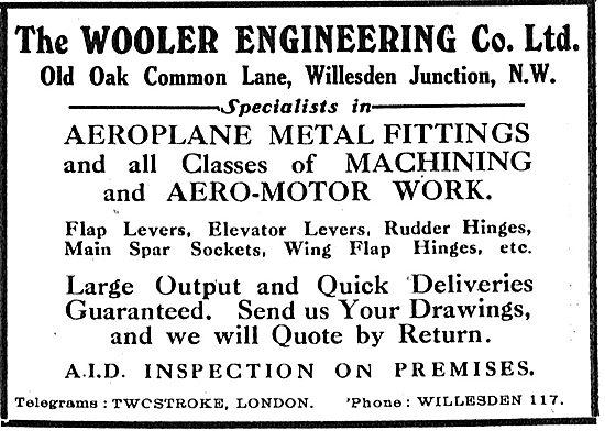 The Wooler Engineering Co Ltd - Aeroplane Metal Fittings